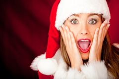 Surprised Mrs Claus Royalty Free Stock Images