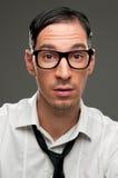 Surprised nerd Stock Photo
