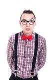 Surprised nerd Stock Photography