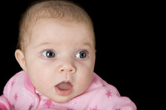 Surprised newborn baby Royalty Free Stock Image