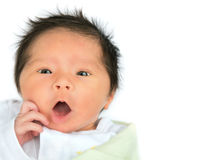 Surprised Newborn Baby Royalty Free Stock Photo