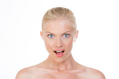 Surprised nordic beauty Stock Images