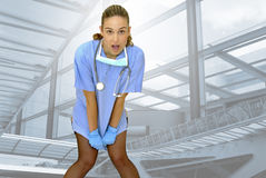 Surprised nurse Royalty Free Stock Photo