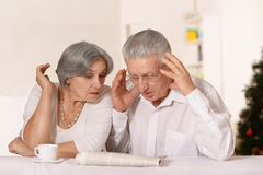 Surprised old couple Royalty Free Stock Photo