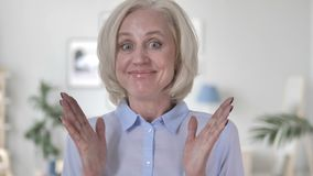 Surprised Old Woman Wondering in Awe. 4k high quality, 4k high quality stock video