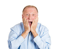 Surprised older man Royalty Free Stock Photo