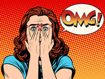 Surprised OMG shocked woman Royalty Free Stock Photo