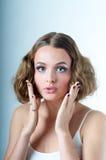 Surprised oops Model look Royalty Free Stock Photos