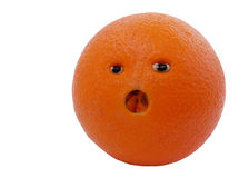 Surprised Orange Royalty Free Stock Images