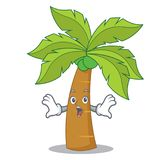 Surprised palm tree character cartoon Royalty Free Stock Photo