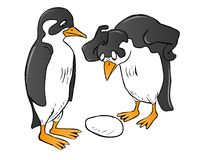 Surprised Penguin Couple Royalty Free Stock Photo