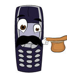 Surprised phone cartoon Stock Image