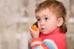 Surprised with a phone talk Stock Photo