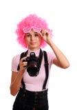 Surprised photographer Stock Photo