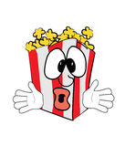Surprised Pop corn cartoon Stock Images