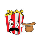 Surprised Pop corn cartoon Royalty Free Stock Photography