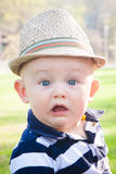 Surprised Preppy Baby Boy Stock Photography