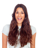 Surprised pretty girl Royalty Free Stock Image