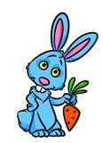 Surprised Rabbit carrots cartoon illustration Royalty Free Stock Photo