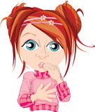 Surprised Redhead Girl Royalty Free Stock Image