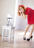 Surprised redhead girl Stock Image