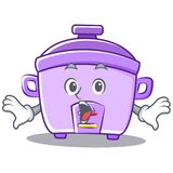 Surprised rice cooker character cartoon Stock Image
