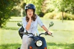 Surprised rider Stock Image