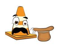 Surprised Road cone cartoon Stock Photo