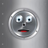 Surprised robot face background Royalty Free Stock Photography
