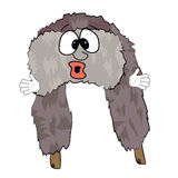 Surprised russian fur hat cartoon Stock Photo