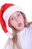 Surprised Santa child Stock Photo