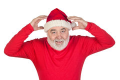 Surprised Santa Claus Stock Photo