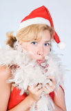 Surprised Santa Claus Royalty Free Stock Images
