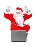 Surprised santa claus Royalty Free Stock Image