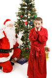 Surprised by Santa Claus Royalty Free Stock Images