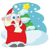 Surprised Santa Claus Cartoon Vector Character stock illustration