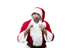 Surprised Santa Claus isolated Royalty Free Stock Photo