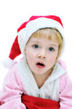 Surprised Santa girl Stock Photos