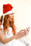 Surprised santa helper Stock Images