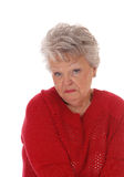 Surprised Scared Senior Woman. Royalty Free Stock Photos