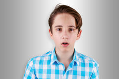 Surprised or scared teenager Royalty Free Stock Photos