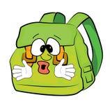 Surprised school bag cartoon. Vector illustration of surprised school bag cartoon Stock Photography