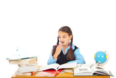 Surprised schoolgirl Royalty Free Stock Photography