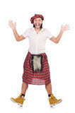 Surprised Scotsman isolated on white Royalty Free Stock Image