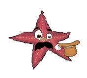 Surprised Sea star cartoon Stock Image