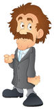 Dirty Man - Cartoon Character- Vector Illustration Stock Images
