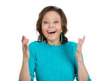 Surprised senior woman Royalty Free Stock Image