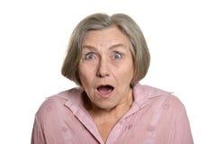 Surprised senior woman Royalty Free Stock Photography