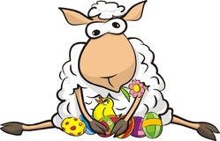 Surprised sheep - happy easter Royalty Free Stock Images