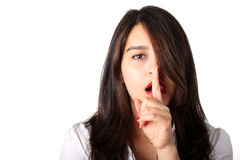 Surprised Shhh! Stock Photos